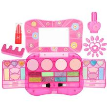 Simulation Children's Toys Nail Polish Makeup Box Cosmetics Girl Puzzle Play House Washable Makeup Set With Cosmetic Case
