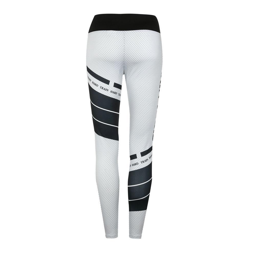 High Waist Yoga Pants 2019 Women Sports Pants Fashion Printed Large Size Running Fitness Pants Elastic Slim Breathable Sweat