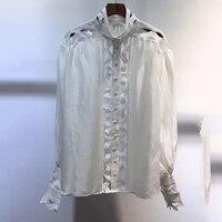 Водолазка высокого качества для женщин модная женская блузка с принтом 2019 модная офисная блузка для женщин