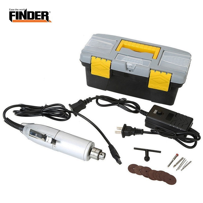 Adjustable Speed 220v Mini Electric Grinder Set Engraver Drill Engraving Machine Grinding Milling Polishing Drilling Pen Tool in Electric Drills from Tools