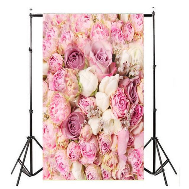 Flores Impresso pano de Fundo a Fotografia Pano de Fundo do Estúdio Photo Booth Props Eventos Decorações Do Partido Tema do Dia Dos Namorados