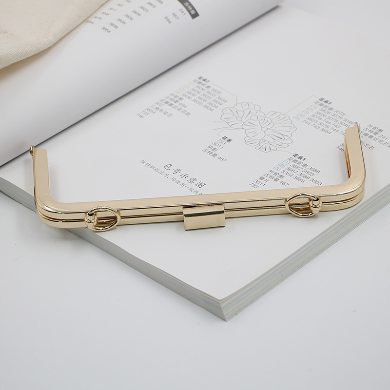 [Telastar] One Piece 20cm Metal Purse Frame Rectangle Bag Hanger DIY Hardware Part And Accessories High Quality Screw Bag Frame