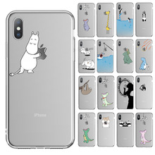 Ottwn For iPhone X Case For iPhone 6 6s 7 8 Plus XR XS Max 5 5s SE 11Pro Max Funny Animal Dinosaur Soft Phone Case Clear Cover black cover japanese samurai for iphone x xr xs max for iphone 8 7 6 6s plus 5s 5 se super bright glossy phone case