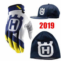 2018 Husqvarna Beanie Motocross Gloves BMX ATV MTB Off Road Motorcycle gloves Mountain Bike MX Gloves hat