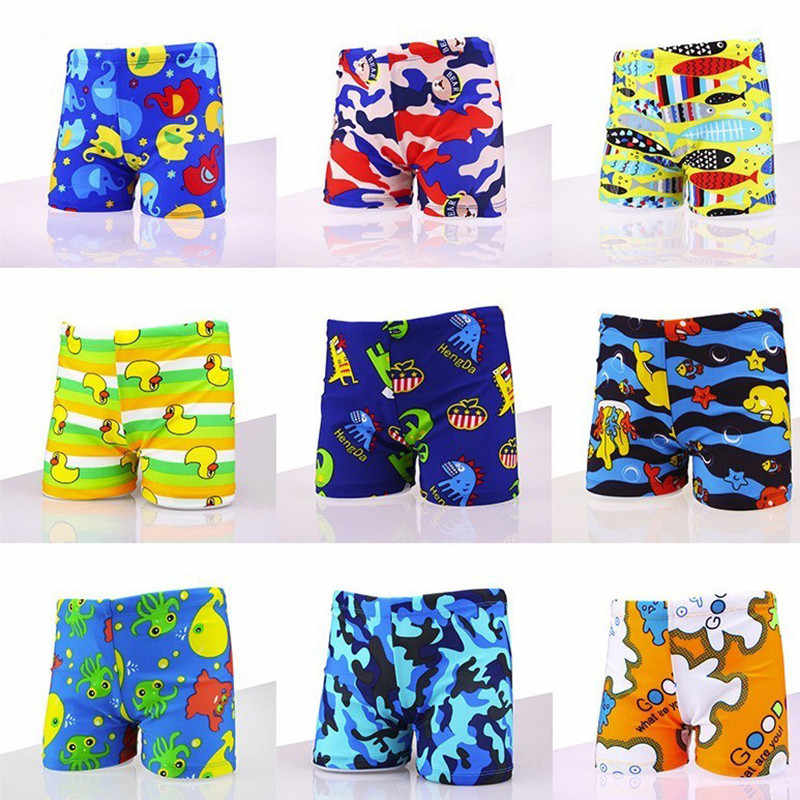 69bf4e525d275 Cartoon Children Swim Trunks Animal Beach Shorts XL Large Hot Spring Bathing  Suit Briefs Matching Swimming