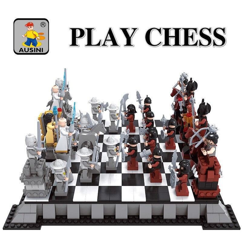 Ausini Model building kits compatible with city Chess 152 3D blocks Educational model & building toys hobbies for childrenAusini Model building kits compatible with city Chess 152 3D blocks Educational model & building toys hobbies for children
