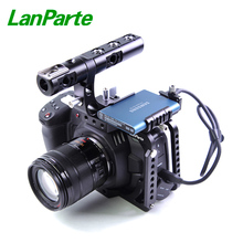 LanParte BMPCC 4K Cage Camera Half Cage with SSD T5 Clamp for Samsung for Blackmagic Pocket Camera 4k tilta 15mm rod bmpcc cage bmpcc kits bmpcc support rig black magic pocket cinema camera bmpcc stabilizer