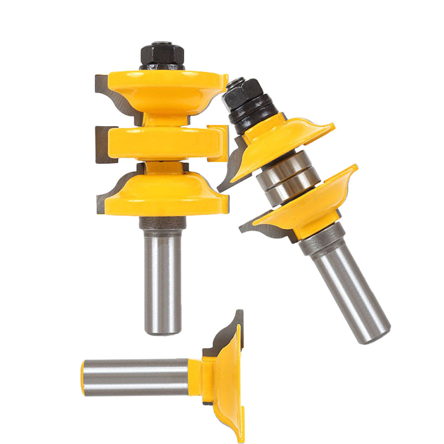 3 Pc 1/2In Shank Entry And Interior Door Ogee Matched R&S Router Bit