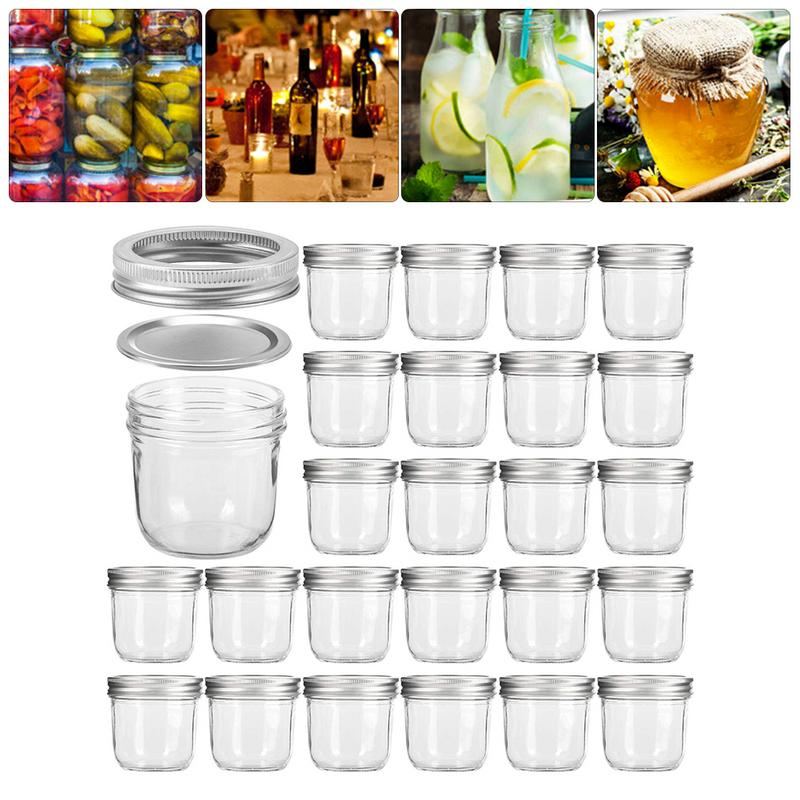 100ML Lead Free Glass Bottle Storage Jar For Caviar Cubilose Honey Pickles