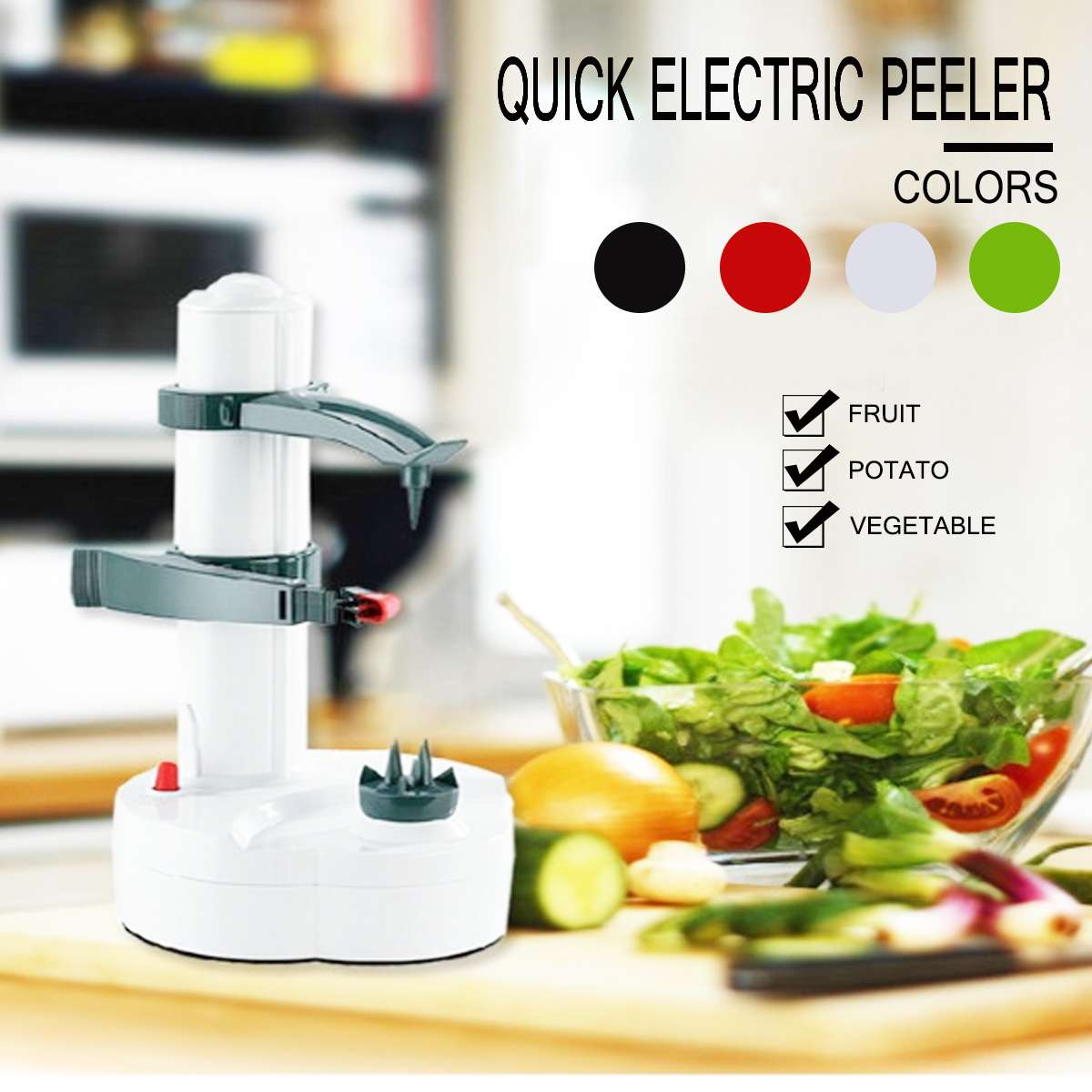 Stainless Steel Electric Peeler Vegetable Fruit Peeler Peeling Machine for Apple Fruit Machine Peeled Tool Home Kitchen