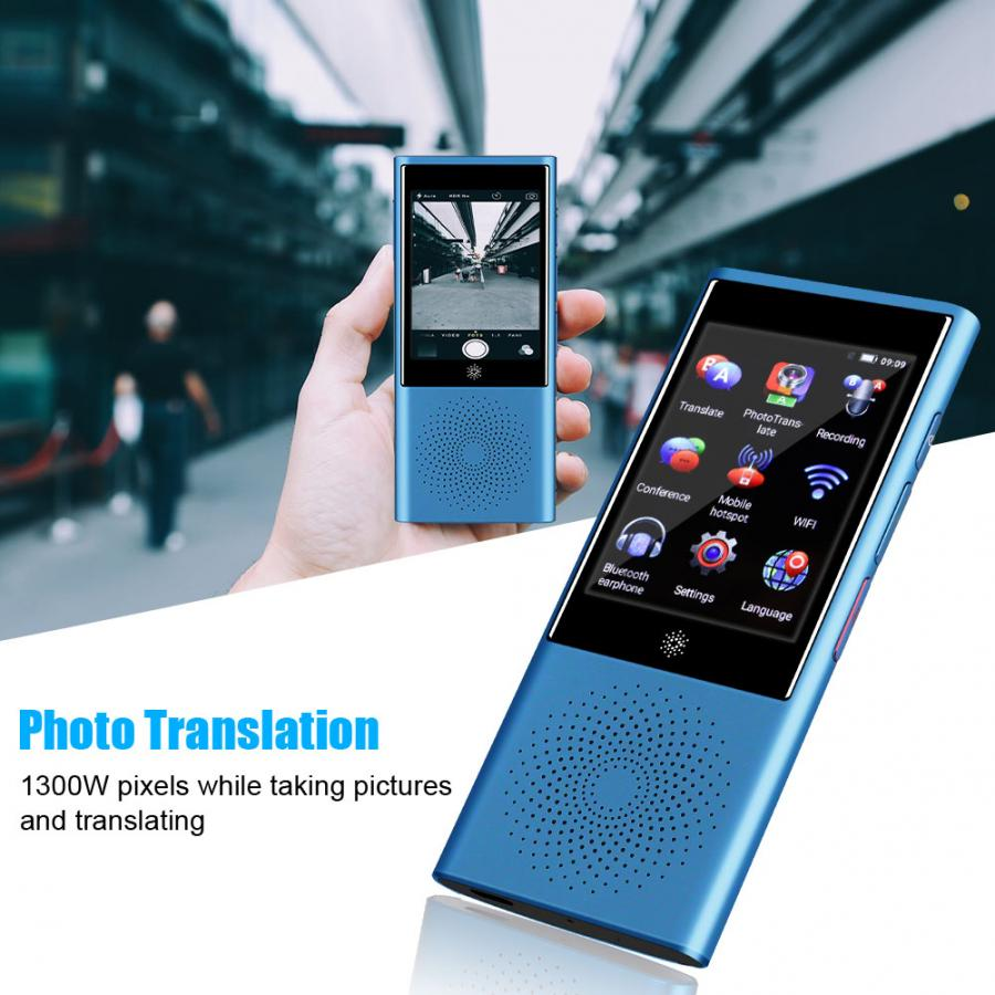 Portable AI Smart Translator Touch Global Business Travel Real Time Translator Support 45 Multi Language Instant Translator