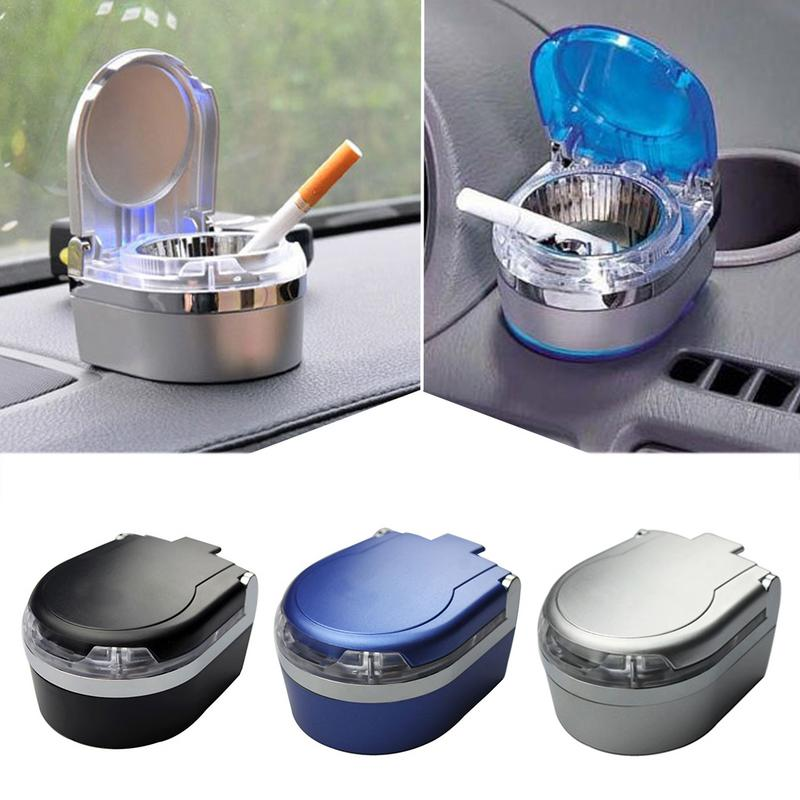 Universal Car Interior Supplies Accessories Ashtray Car Mini Ashtray With LED Lights