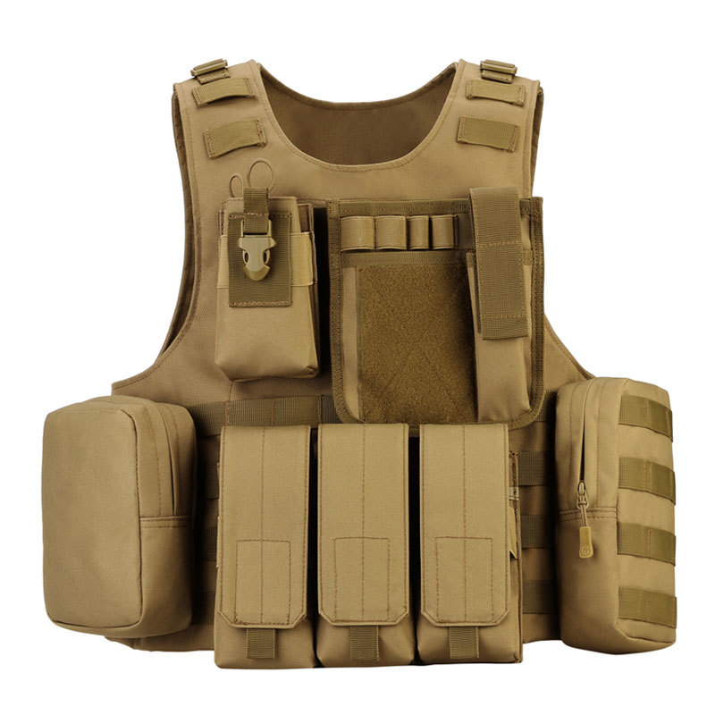 Mens Combat Army Military Waist Coat Fishing Assault Tactical Jacket Vest Black