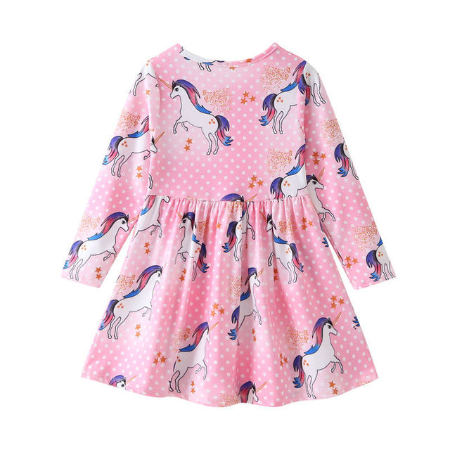 Kids Infant Unicorn Floral Party Dresses Toddler Autumn Spring Clothes 3