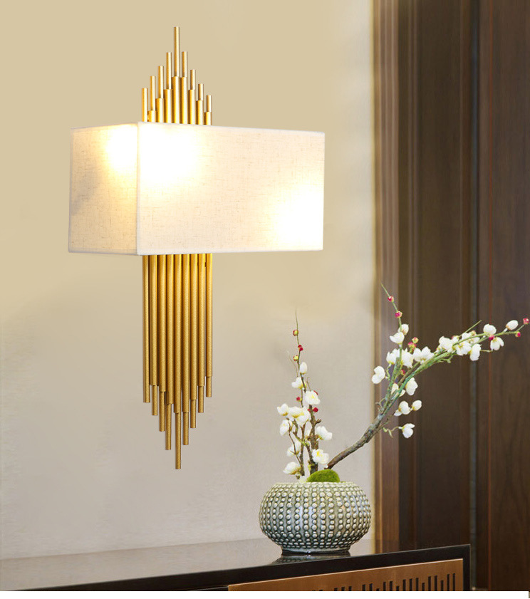 Gold Nordic Post Modern Wall lamp Minimalist Luxury Style Designer Model Room Living Room Background Wall Bedroom Bedside Lamp image