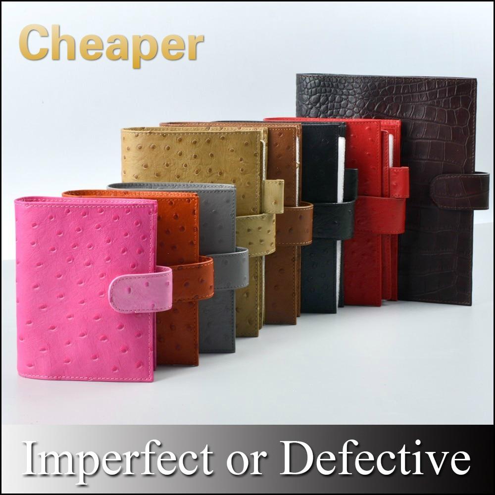 Limited Imperfect Genuine Leather Rings Notebook Binder Agenda Organizer Diary Journal Sketchbook Planner Big Pocket