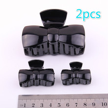 Good Quality PC plastic Claw Clip shining black  SK-Shark hair claws for women DIY jewelry accessories 3 sizes