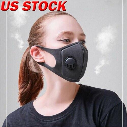 Antipm 2,5 Polen Polvo Máscara De Respiración Lavable Anti-niebla Activado Filtro De Carbón Protección Cara Máscara De Polvo/cabeza Respirador