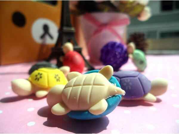 Ellen Brook 2 Pcs การ์ตูนน่ารักเต่ายางเกาหลีเครื่องเขียนอุปกรณ์สำนักงานโรงเรียนความแปลกใหม่ของขวัญเด็กดินสอยางลบ