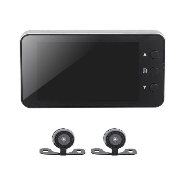 Motorcycle Camera DVR Locomotive Recorder Front and Rear Double Lens Dash Cam with Dual-track Recording Hidden Driving Recorder