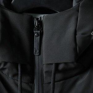 Image 3 - Varsanol Thick Parka Men Jacket Coat 2018 New Brand Hooded Cotton Parkas Men Solid Hooded Pocket  20 Degree Parka Men