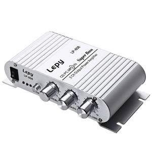 Image 1 - مضخم صوت محمول LP 808 12 فولت صغير HiFi مضخم صوت جهير فائق 3.5 مللي متر AUX للدراجة النارية MP3 Mp4 PC مع التحكم في مستوى الصوت