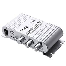 Portable LP 808 12V MiNi HiFi Super Bass Amplifier 3.5mm AUX For motorcycle MP3 Mp4 PC with Volume Control
