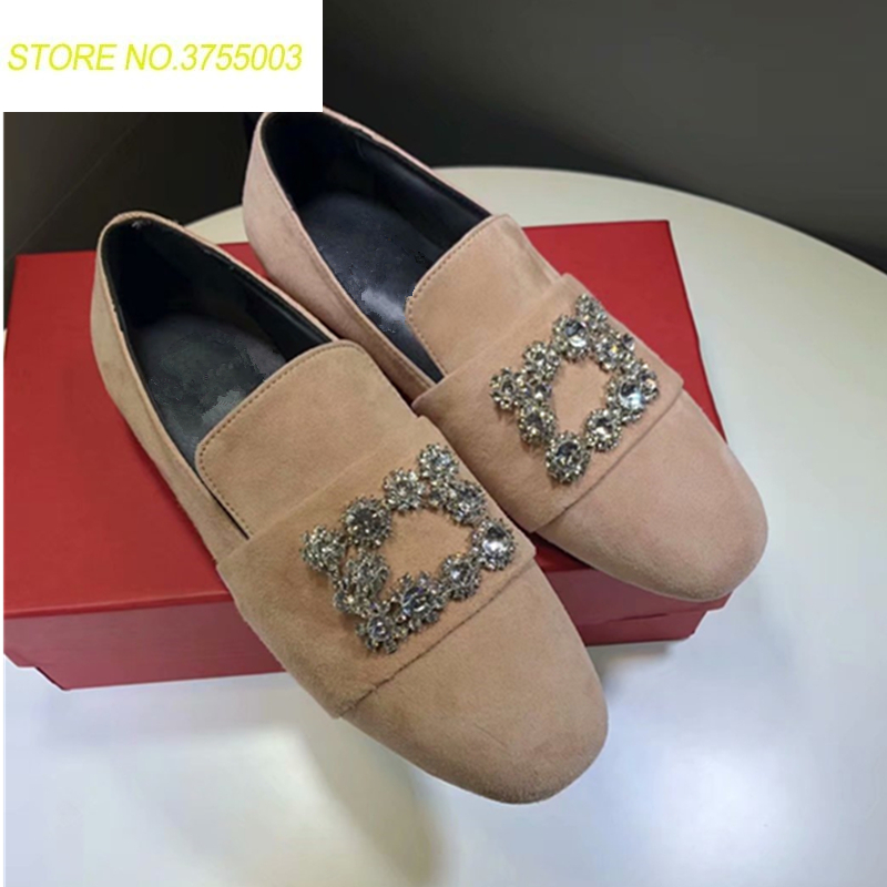 2018 Luxury Rhinestone Round Toe Flat Loeafers Flock Embellished Cozy flip flop Outdoor Creppers Spider mules beach Shoes Women2018 Luxury Rhinestone Round Toe Flat Loeafers Flock Embellished Cozy flip flop Outdoor Creppers Spider mules beach Shoes Women
