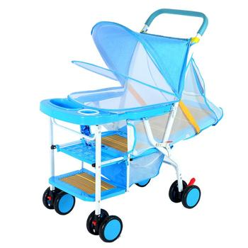 Kidlove Summer Lightweight Folding baby stroller imitation rattan can sit lying wicker chair 0-3 years old child baby stroller