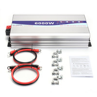 Intelligent Screen Pure Sine Wave Power Inverter DC12V DC24V to AC220V 3000W 6000W Converter With LCD Display
