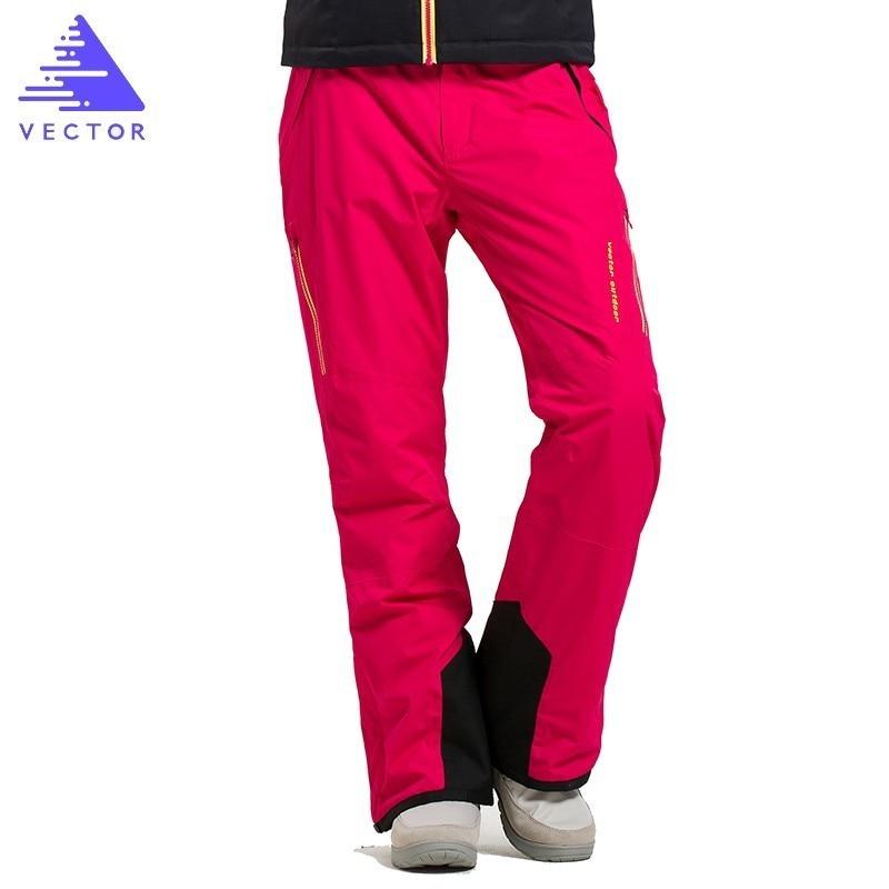 VECTOR Brand Professional Ice Ski Pants Women Waterproof Snow Pants Winter Warm Snowboard Pants Outdoor Skiing Pants 50017 pants galvanni pants
