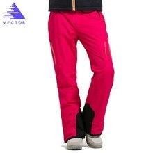VECTOR Brand Professional Ice Ski Pants Women Waterproof Snow Pants Winter Warm Snowboard Pants Outdoor Skiing Pants 50017