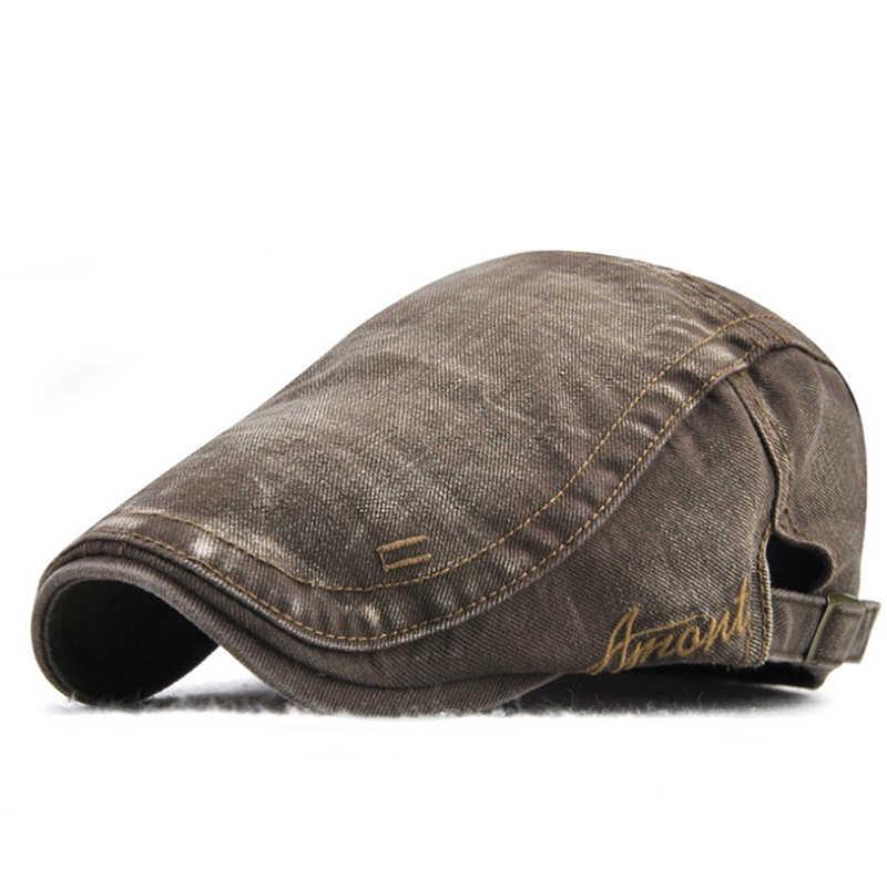 Neue Casual Britischen Stil Unisex Solide Cabbie Hüte Caps Zeitungsjunge Mütze Flachen Hut Irish Newsboys Caps Für Männer Und Frauen