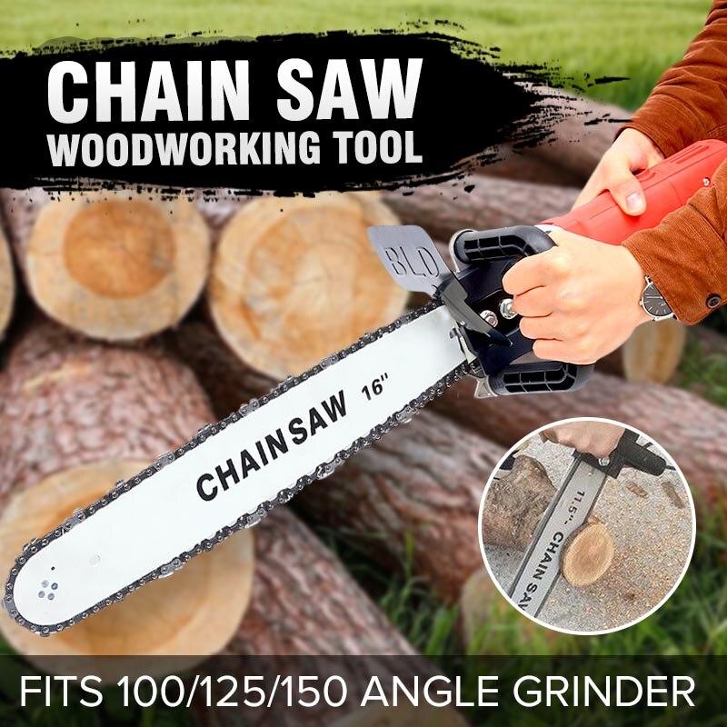 16 pouces pièces de scie électrique support de tronçonneuse changé 100 125 150 meuleuse d'angle électrique M10/M14 en scie à chaîne outil de travail du bois