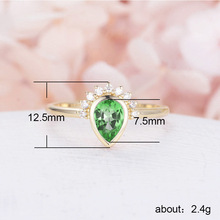 925 sterling silver jewelry treasure ring diamond rings Rose gold Vintage lady crown costume Drop-shaped turquoise B2290
