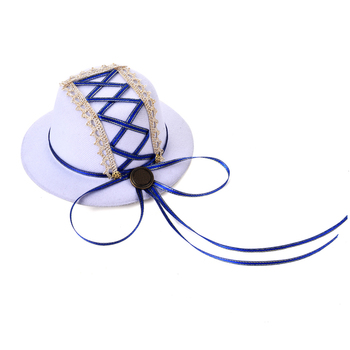 Gothic Lolita Hair Accessories Ribbon White Mini Top Hat Lolita Hats Accessories For Party