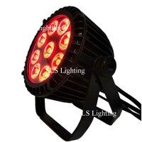 8 шт./лот led par 6 в 1 RGBWA + УФ 9*18 W DMX 512 уличный прожектор + 8 x питания ЕС и кабели dmx + 8x3 измеритель мощности + и DMX коммутации кабели