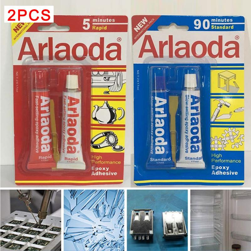 2 Minutes Curing Super Liquid Araldite 2pcs/set 5 Minutes Metal Adhesive Stationery AB Epoxy AB Glue High Quality #0118