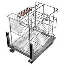 Organizador Accesorios Armario De Cocina Despensa Stainless Steel Cuisine Cozinha Kitchen Cabinet Cestas Para Organizar Basket