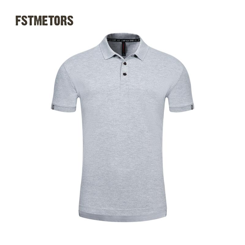 2018 FSTMETORS fashionable men's   Polo   shirt pure color England style of cultivate one's morality short sleeve   Polo   shirt