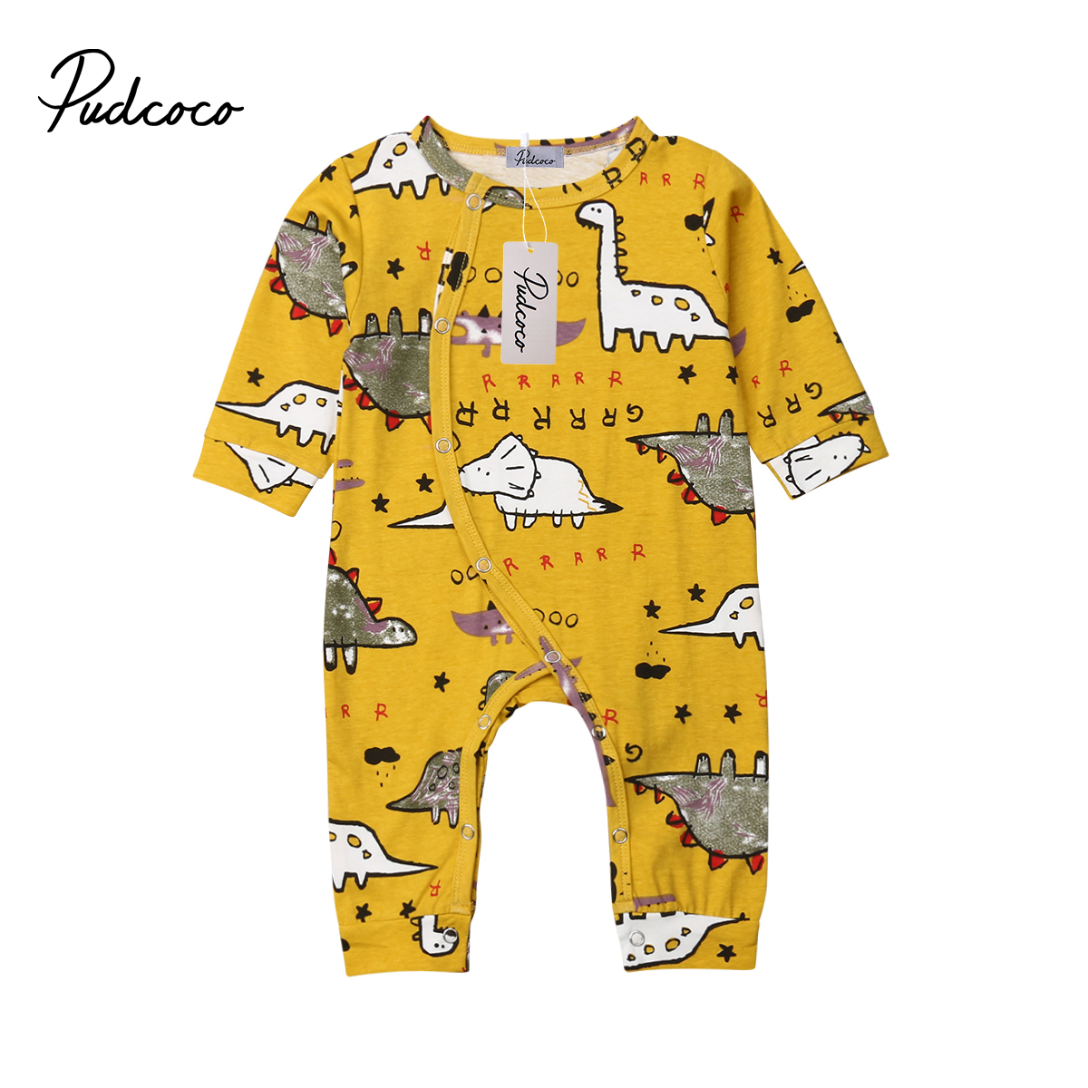 Cute Dinosaur Print Baby Boys Girls   Romper   Jumpsuit cotton pajamas Outfit for Newborn Infant Children Clothes Kid Clothing