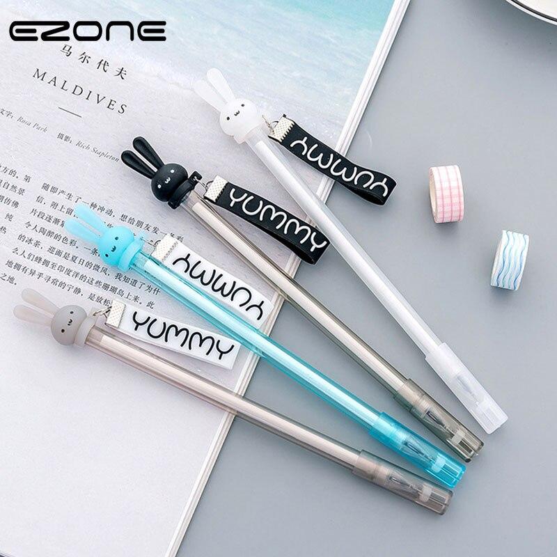 Kawaii Unicorn Warm Ball Plush Pendant Decor Gel Pen Black Ink Pen-Stationery