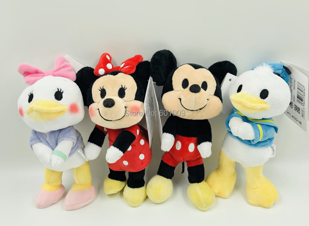 10/lot 4 Styles 15cm Mickey Minnie Mouse Donald Duck Daisy Plush Doll Joint Mobility Stuffed Toys Dolls & Stuffed Toys