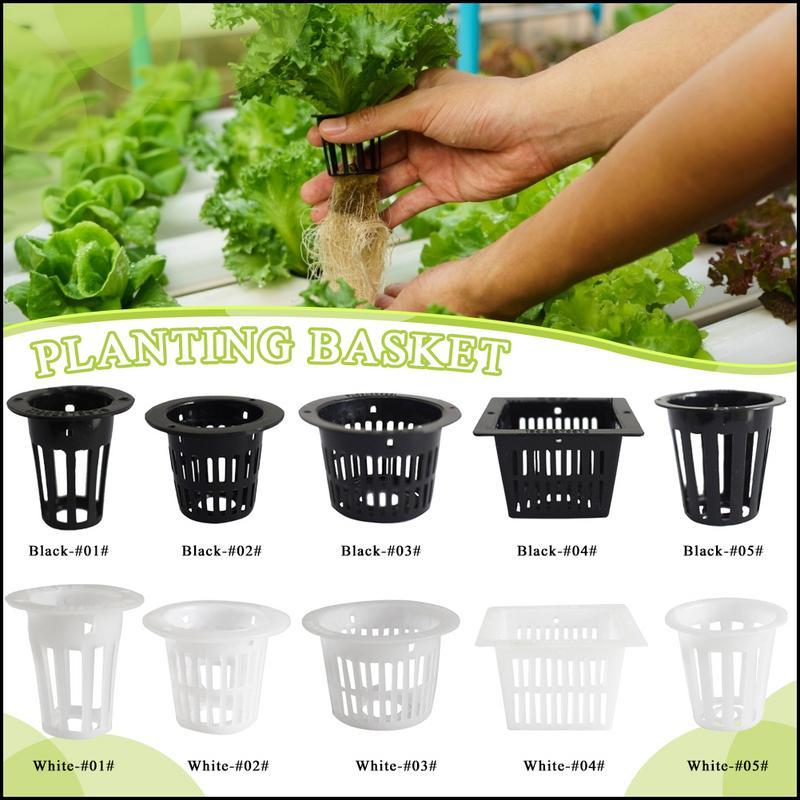 "10 Pcs 3/"" Heavy Duty Mesh Pot Net Cup Basket Hydroponic Aeroponic Planting Grow"