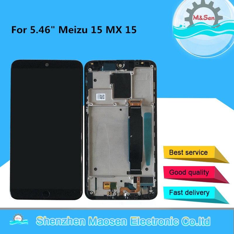 Original M&Sen For 5.46 Meizu 15 MX 15 MX15 M881Q C  Snapdragon 660 Super AMOLED LCD Screen Display+Touch Panel Digitizer FrameOriginal M&Sen For 5.46 Meizu 15 MX 15 MX15 M881Q C  Snapdragon 660 Super AMOLED LCD Screen Display+Touch Panel Digitizer Frame