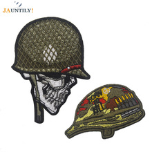 Embroidery Military Morale Patches Tactical Helmet Armband Patch Skull Soldier Pattern Badge Package