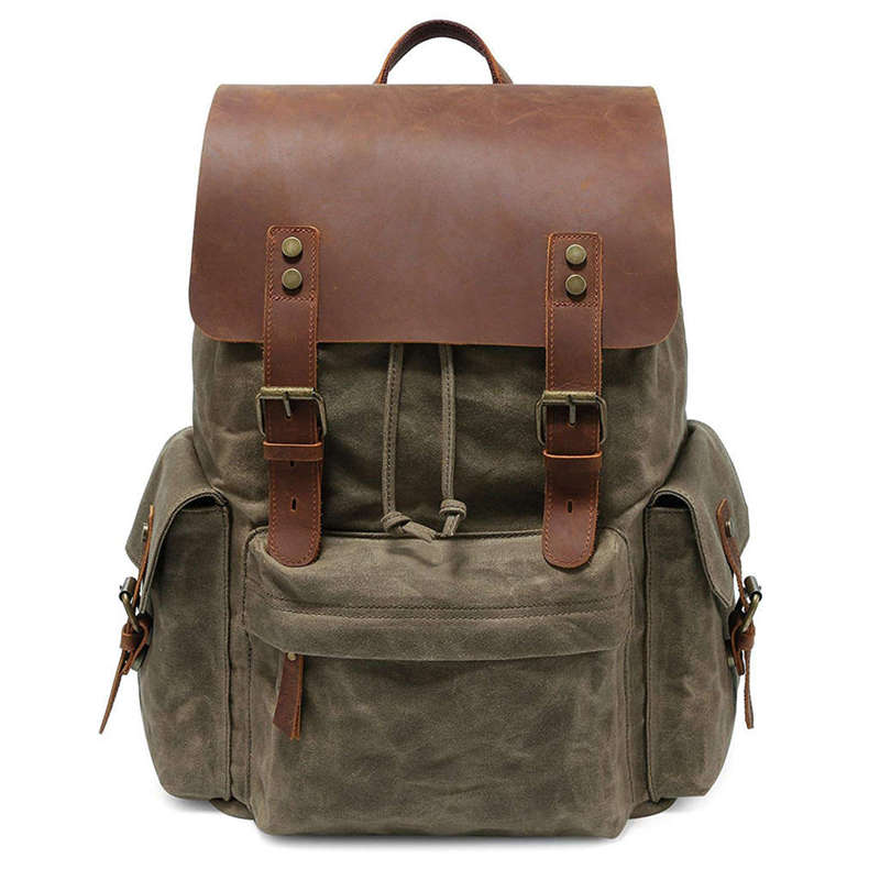Large Canvas Backpack School Bag Outdoor Travel Rucksack,Vintage Satchel Shoulder BagLarge Canvas Backpack School Bag Outdoor Travel Rucksack,Vintage Satchel Shoulder Bag