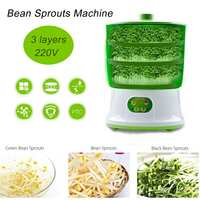 Warmtoo อัจฉริยะ 1.5L 2 ชั้น Bean Sproutss อัตโนมัติ DIY ชีท Sprout สีเขียวเมล็ดปลูก 220V 20W 26x35cm-ใน เครื่องปั่นอาหาร จาก เครื่องใช้ในบ้าน บน