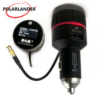 With Converter Plug and Play Knob FM Transmitter Car DAB Radio Cigarette Lighter Tuner Receiver With 5V 2.4A A USB Part