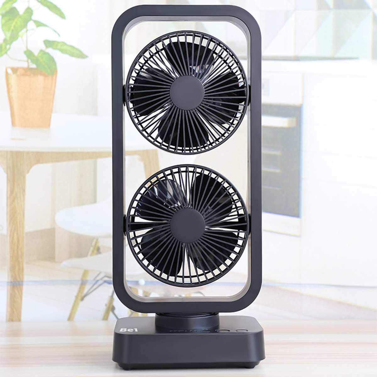 USB Electric Double Tower Fan Double Vane Usb Fan Energy Saving Mini Size For Office Home